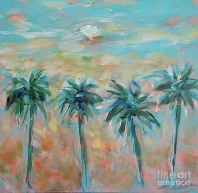 Painting - Wood Palms by Linda Olsen