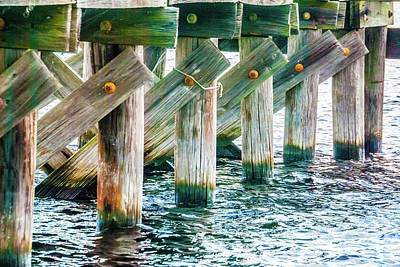 Photograph - Wood Pier by Pamela Williams