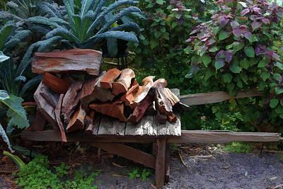 Photograph - Wood Pile by Pamela Walton