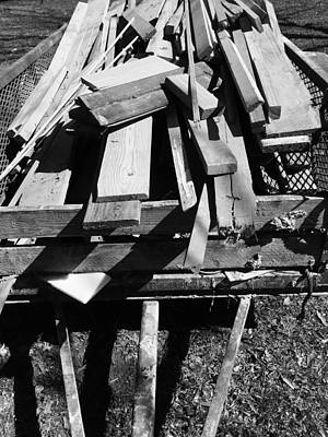 Photograph - Wood Pile, La. by Robin Lewis