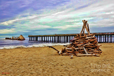 Photograph - Wood Pile Sea Cliff State Beach by Blake Richards
