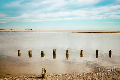 Wood Pilings In Shallow Waters Art Print