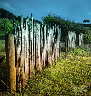 Photograph - Wood Rail Fence Mendocino County by Blake Webster