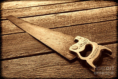Photograph - Wood Saw by American West Legend By Olivier Le Queinec