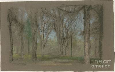 Park Scene Painting - Wood Scene by MotionAge Designs