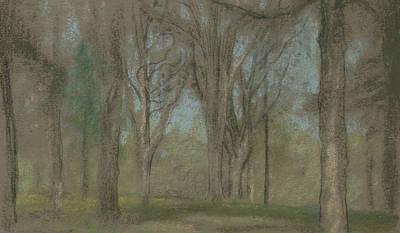 Drawing - Wood Scene  by Arthur Bowen Davies