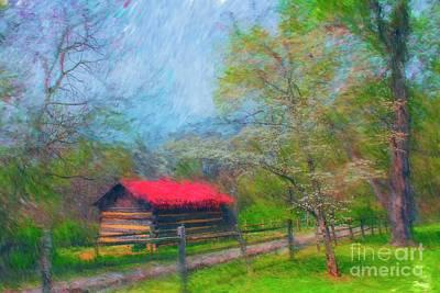 Digital Art - Wood Shack 1407 Painting by Carlos Diaz