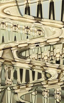 Wood Sine Art Print by Ron Bissett