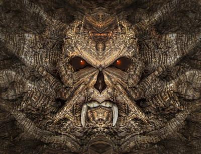 Pareidolia Wall Art - Photograph - Wood Skull by Rick Mosher