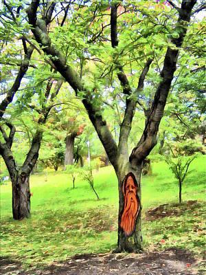 Digital Art - Wood Spirit by Leslie Montgomery