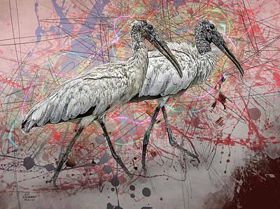 Photograph - Wood Storks by Jim Ziemer