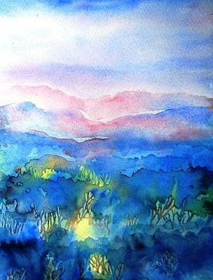 Painting - Misty Woodand Sunrise by Trudi Doyle
