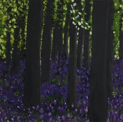 Woodbells Art Print by Lorraine Fenlon
