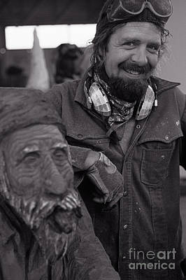 Artist Working Photograph - Woodcarver Portrait by Jim Corwin