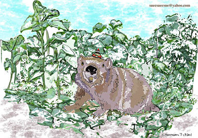 Woodchuck Chuck Art Print by Susie Morrison