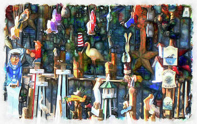 Finger Lakes Digital Art - Woodcraft Giftshop In Montour Falls by Leslie Montgomery