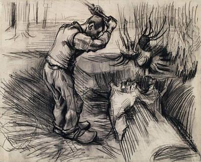 Lumberman Painting - Woodcutter, 1885 by Vincent Van Gogh