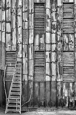 Photograph - Wood Facade Bw by Dawn Currie