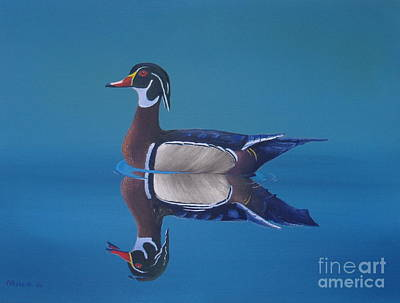 Carolina Duck Painting - Woodduck by Michael Allen
