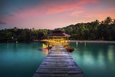 Photograph - Wooded Bridge And Pavolion In Koh Kood by Anek Suwannaphoom