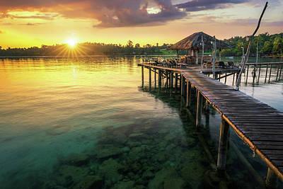 Photograph - Wooded Bridge To Koh Mak Harbor  by Anek Suwannaphoom