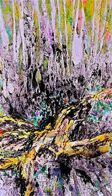 Painting - Wooded Growth by Carolyn Rosenberger