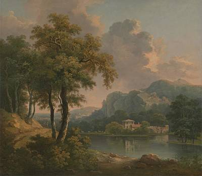 Painting - Wooded Hilly Landscape By Abraham Pether by Celestial Images