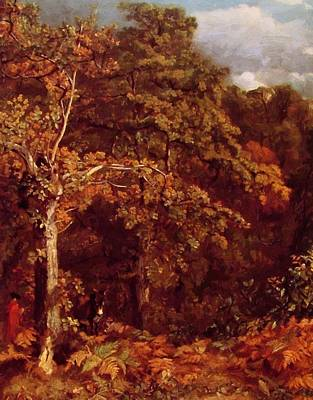 Painting - Wooded Landscape 1802 by Constable John