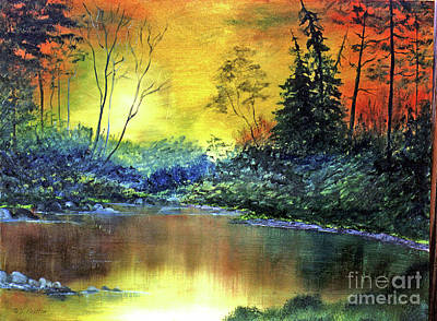 Painting - Wooded Serenity by Dee Flouton