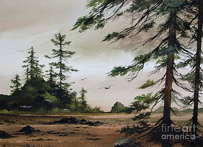 Wooded Shore Art Print