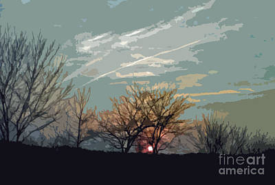 Photograph - Wooded Sunset by Scott Hervieux