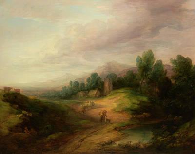 Painting - Wooded Upland Landscape                                    by Thomas Gainsborough
