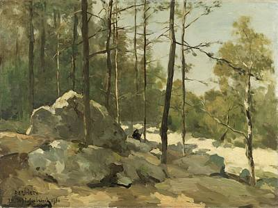 Painting - Wooded View Near Barbizon, Johan Hendrik Weissenbruch, 1900 by Celestial Images