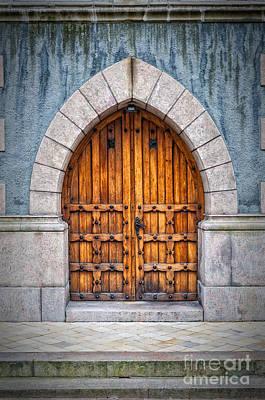 Wooden Archway Doors Art Print by Antony McAulay