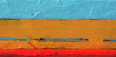 Wooden  Background With Blue, Orange And Red Colors. Original by Michalakis Ppalis