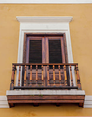 Photograph - Wooden Bar Balcony by Herb Paynter