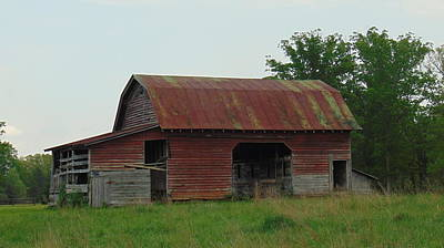 Photograph - Wooden Barn by Charlotte Gray