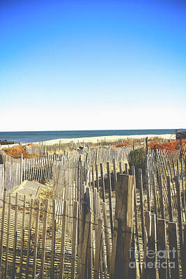 Photograph - Wooden Beach Fence II by Colleen Kammerer