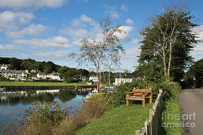 Photograph - Wooden Bench Mylor Bridge by Terri Waters