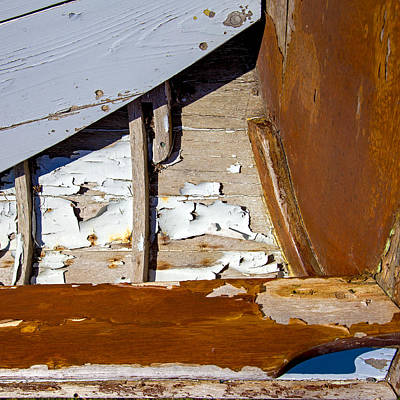 Photograph - Wooden Boat Abstract 1 by Charles Harden