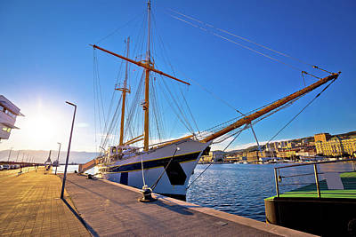 Photograph - Wooden Boat In Rijeka Waterfront Harbour by Brch Photography