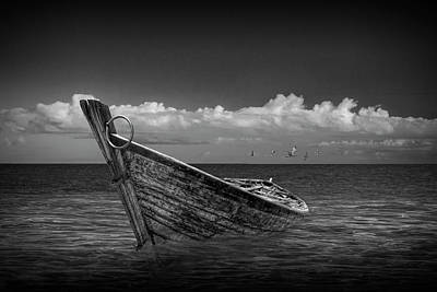 Photograph - Wooden Boat In Shallow Water by Randall Nyhof