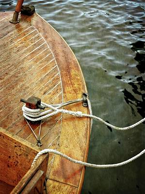 Photograph - Wooden Boat On Pentwater River by Michelle Calkins