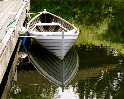 Wooden Boat Art Print by Sonja Anderson