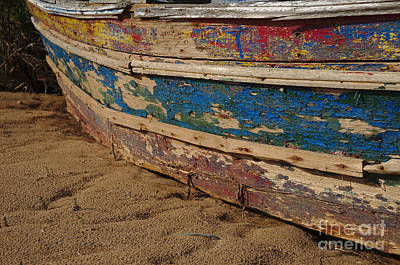 Fishing Boat Photograph - Wooden Boat Washed Paint by Angelo DeVal
