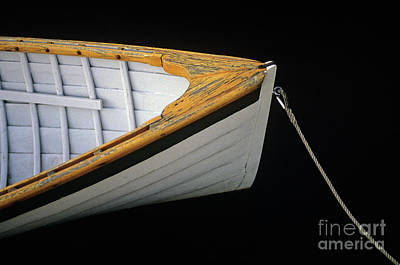 Photograph - Wooden Boat With Rope by Jim Corwin