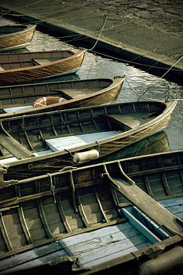 Harbor Photograph - Wooden Boats by Joana Kruse
