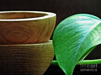 Photograph - Wooden Bowls 1 by Sarah Loft