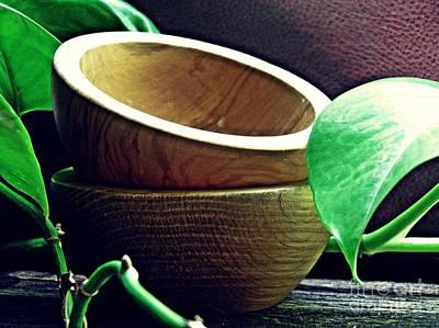 Photograph - Wooden Bowls 2 by Sarah Loft