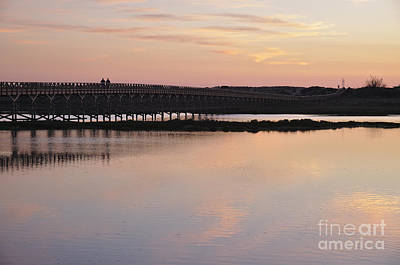 Wooden Bridge And Twilight Art Print